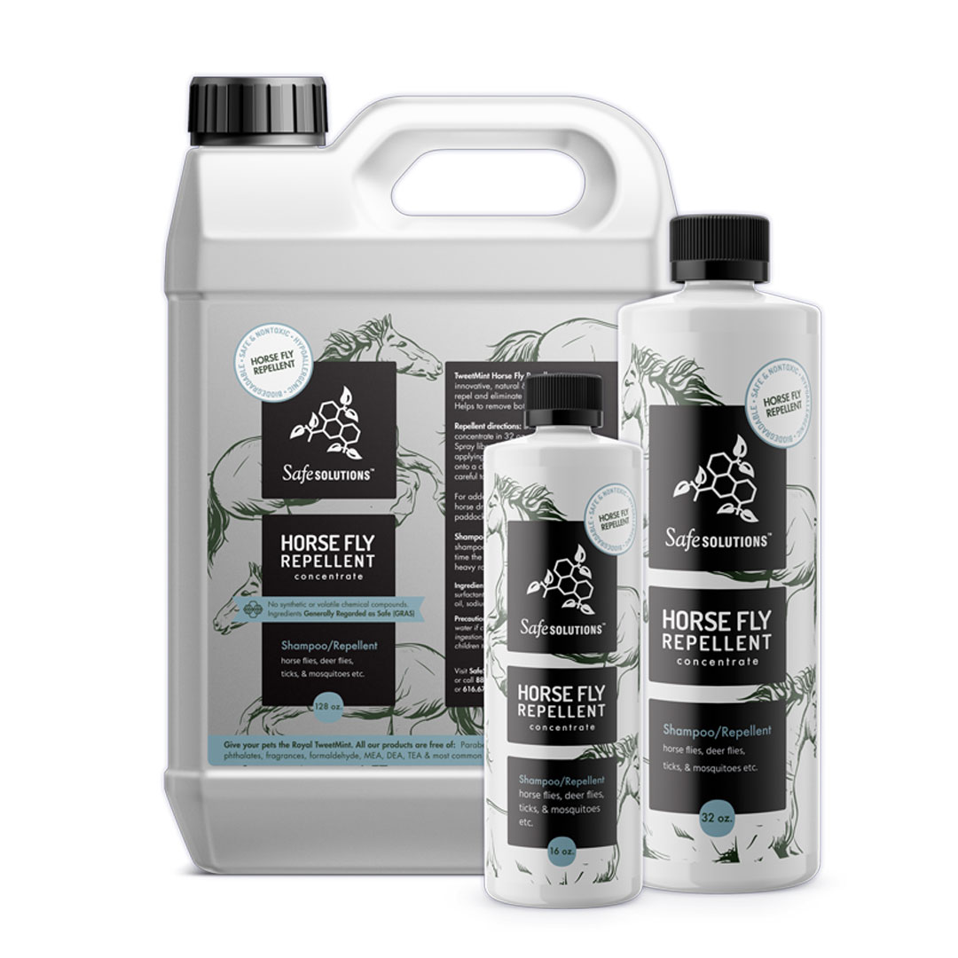 TweetMint Horse Fly Repellent is an innovative, natural & nontoxic solution